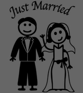 Just Married Decal 4