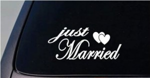 Just Married Decal 5