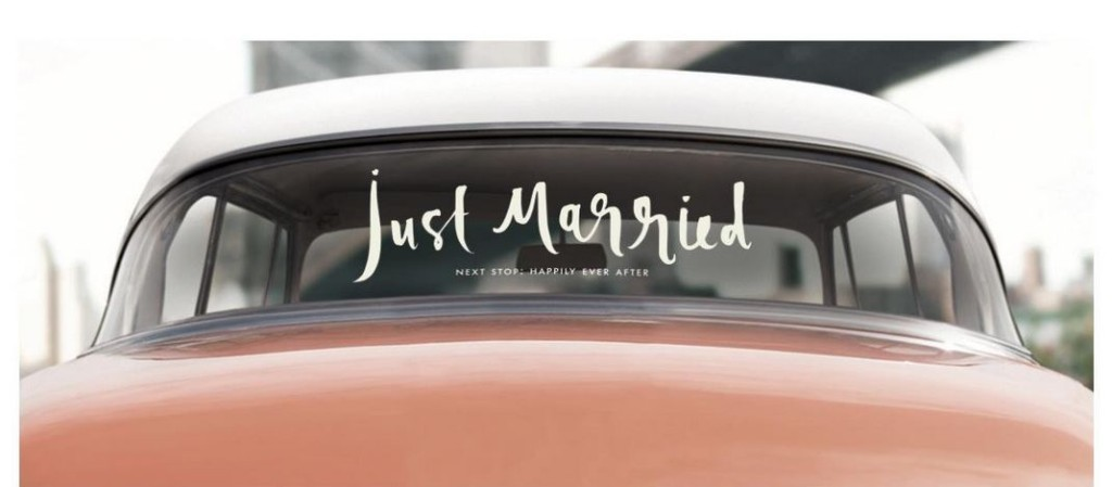 Just Married -Kate Spade Car decal