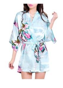 Light Blue Kimono Robe