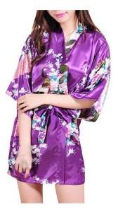 Purple Kimono Robe