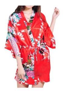 Red Kimono Robe