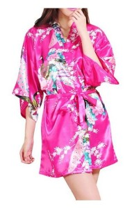 Rose Red Kimono Robe