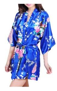 Royal Blue Kimono Robe