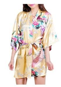 Yellow Kimono Robe